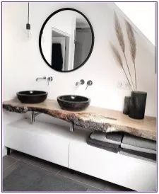 Badezimmer mit dusche Modern, minimalist bathroom with walk-in shower - New Ideas Your Own Home Inte Black Sink, Black Vase, Bathroom Interior Design, Interior Decorating, Bathroom Goals, Bathroom Ideas, Bathroom Remodeling, Bathroom Organization, Remodeling Ideas