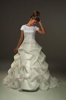 mormon wedding dresses Gown Wedding Dress LDS Temple Ready