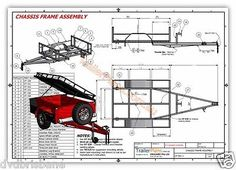 Off Road camper Trailer Plans Trailer Design 3 Sizes | eBay