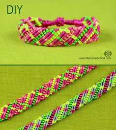 Criss-cross lines, Bracelet Tutorial - http://youtu.be/KP0oVCHcuBY