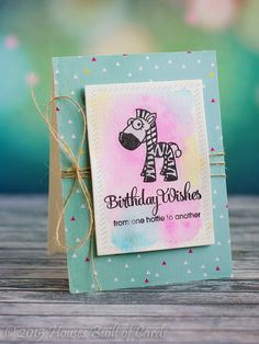 Paper Smooches Watercolor Birthday Set