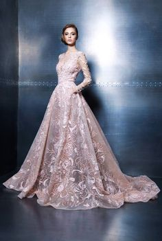 Ziad Nakad Haute Couture 2015 - romantic floral bridal inspiration, classy and elegant dress, soft pink wedding gown Stunning Dresses, Beautiful Gowns, Elegant Dresses, Pretty Dresses, Beautiful Outfits, Gorgeous Dress, Evening Dresses, Prom Dresses, Formal Dresses