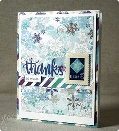 Love this creation by Jenn using the Simon Says stamp January 2015 card kit for her card for the  SSS Wednesday challenge (Something New)
