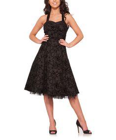 Look what I found on #zulily! Black Barbwire Dress - Plus Too #zulilyfinds