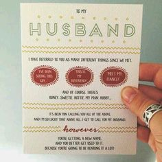 going to do this for my husband