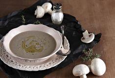 Mushroom soup with chestnuts - www. Mushroom Soup, Lemon Grass, Stuffed Mushrooms, Healthy Recipes, Healthy Food, Food And Drink, Tasty, Cooking, Tableware