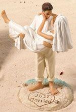 Beach Romance Bride and Groom Cake Topper