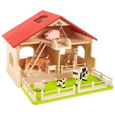 Spielzeug-Krippe oder -Bauernhof