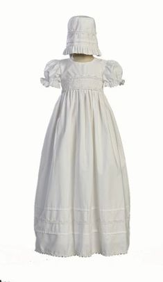 Clothing, Shoes & Accessories Smart Infant Girls White Christening Baptism Gown With Bonnet Size 6 Months Nwt Latest Technology