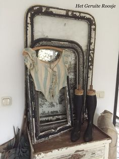 Vintage Frames, Mirrors, Shabby Chic, Antiques, Antiquities, Antique, Vintage Borders, Mirror, Old Stuff