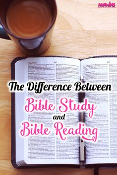 There is a difference between Bible study and reading. Maybe you a new Christian or you haven't been in your Bible for so long you don't even know where to begin. I'm hoping to help you see the difference between the two.