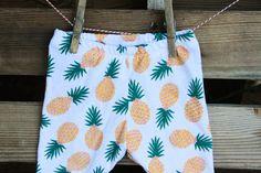 Pineapple Baby Leggings Girls Buttercup Yellow by SweetLucyJack