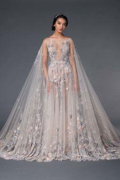 Persephone, Look Fashion, Unique Fashion, Fashion Moda, Beaded Cape, Cape Gown, Unique Wedding Gowns, Wedding Bride, Fantasy Gowns