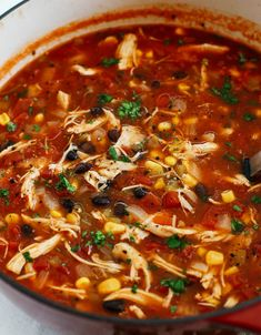 Chicken Tortilla Soup (Instant Pot, Slow Cooker and Stove-Top) - Eat Yourself Skinny - Healthy Chicken Tortilla Soup for the perfect weeknight meal that can easily be made in your instan - Healthy Chicken Tortilla Soup, Chicken Enchilada Soup, Healthy Soup, Healthy Chicken Recipes, Chicken Soup, Easy Tortilla Soup, Crockpot Recipes, Slow Cooker Tortilla Soup, Easy Recipes