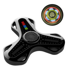 AITURE Chargeable Bluetooth Fidget Spinner Mobile APP Control LED Hand Spinner Gadgets