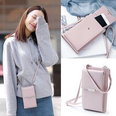 New PU Ladies Mobile Phone Bag Solid Color Shoulder Bag – berryhoo Cheap Purses, Cute Purses, Cheap Handbags, Luxury Handbags, Popular Handbags, Popular Purses, Guess Purses, Purses Boho, Celine Handbags