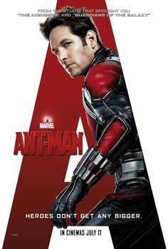 Ant-Man (2015) 11.08.15: Paul Rudd plays Paul Rudd, but none of the cast is expected to do much heavy lifting, so it's expectable.  Corey Stoll belongs in villain roles.  Overall entertaining but nothing that will change the superhero landscape.
