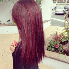 Deep red hair, my next hair color! Dye My Hair, New Hair, Red Hair 2014, Hair Chalk, Hair Color And Cut, Gorgeous Hair, Pretty Hairstyles, Latest Hairstyles, Summer Hairstyles
