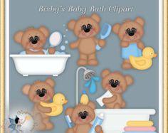 Teddy Bär Clipart Baby Marshmallow und von MagicmakerScraps auf Etsy