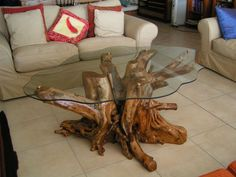tree root table diy - Google Search
