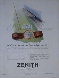 #Zenith watches 1954 @Connie Ormaechea-Sommer