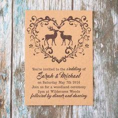 Personalised rustic woodland wedding invitations each. 2019 - Wedding Invitations Trends 2019 - Nail polish patterns that you can do with the nails arts friends look at the hands of . Woodland Wedding Invitations, Wedding Invitation Inspiration, Rustic Invitations, Wedding Invitation Cards, Wedding Stationery, Wedding Cards, Invitation Ideas, Invites, Party Invitations