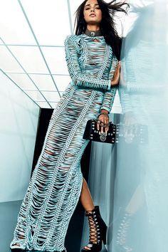 Diamond Jewelry Balmain Resort 2018 Fashion Show Collection - The complete Balmain Resort 2018 fashion show now on Vogue Runway. Diva Fashion, Fashion 2018, Fashion Week, Look Fashion, Couture Fashion, Editorial Fashion, Runway Fashion, Womens Fashion, Fashion Design