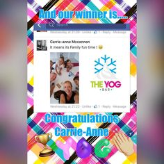 And the winner of our Free Delivery Competition is....Carrie-Anne Mccannon.... & family by the looks of the photo we received! We LOVE that The Yog Bar brings families together whilst enjoying a special treat so we hope you enjoy your Yogs on us!  Please call us to claim your prize! #froyo #competition #frozenyogurt #wirral #northwest #liverpool #delivery #family #treat #theyogbar #weekend #dayout by theyogbar