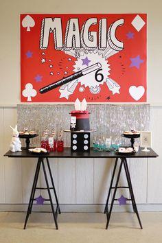 Magical Magic Party with So Many Fabulous Ideas via Kara's Party Ideas | KarasPartyIdeas.com #MagicianParty #MagicShow #PartyIdeas #Supplies (24) Magic Birthday, 6th Birthday Parties, Boy Birthday, Birthday Ideas, Magie Party, Magician Party, Party Mottos, Magic Theme, Party Fiesta