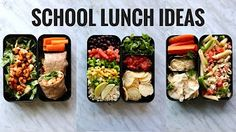 Healthy Lunch Ideas for School! - YouTube