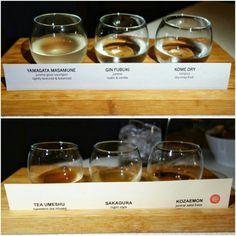 Sake and Japanese plum wine flights at @aburirestaurants #MinamiYaletown #Vancouver #Yaletown #sake #umeshu