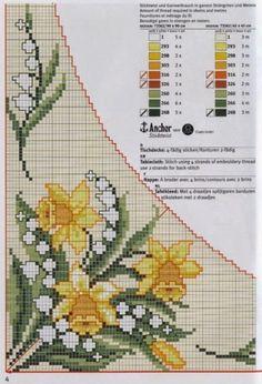 Ponto cruz motivos florais orquídeas