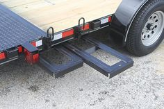 Ramps / Ramp storage on a flatbed trailer.                              …