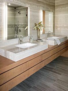 international interior design firm specializing in hospitality and commercial design Bathroom Sink Units, Bathroom Renos, Bathroom Vanity Lighting, Bathroom Ideas, Condo Bathroom, Bathroom Drawers, Bathroom Mirrors, Bathroom Inspo, Bathroom Flooring
