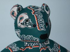 Dolphins Teddy Bear Miami Football Gridiron Tailgate by DoOver