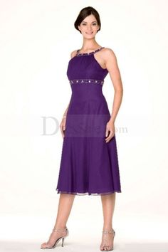 purple mother of the bride dresses tea length - Google Search