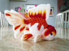 Felt goldfish by demetyoubi.deviantart.com on @deviantART