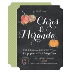 Fall Engagement Celebration Invitation - party gifts gift ideas diy customize