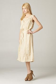 Lanni Dress in Natural Ramie | Women's Clothes, Casual Dresses, Fashion Earrings & Accessories | Emma Stine Limited