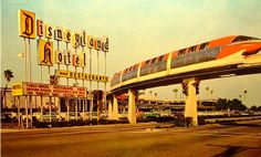 The train in the sky at Disneyland (60s)