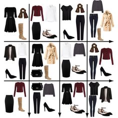 15 Item Capsule Wardrobe (Classic Style) by minimaliststylist on Polyvore featuring moda, Love Moschino, Frank & Eileen, H&M, MANGO, Burberry, WithChic, M&S Collection, Alexander McQueen and True Religion