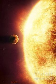 A Growing Star about to burn a nearby