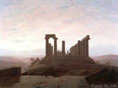 Caspar David Friedrich - Junotempel in Agrigent