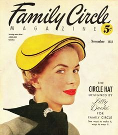 """1950's DIY article with style tips, to make and wear  """"Circle Hats.""""  Preinternet Pinterest? ;)"""