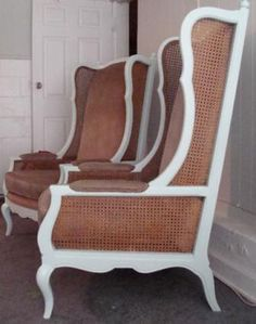 Vintage Cane Wingback Chairs   $650 U2014 Los Angeles Scavenger
