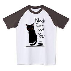 SOLD! 黒猫と貴方 ラグランTシャツ (Printstar) by BATKEI #ttrinity #cat #猫 #cats #feline #tshirts #clothing #Tシャツ