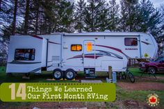 After one month of living in our RV we've learned a lot about our new home. Find out what Adam & Kate learned during month one.