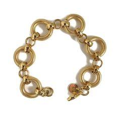 Signed DOLCE VITA 18k Gold Plated Bracelet Vintage Textured