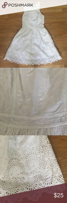 Jack Wills white cotton sundress Jack Wills white cotton sundress with embroidered detailing. Size four. Great condition - only worn a handful of times with minimal signs of wear. Great detailing on gen and has pockets. Jack Wills Dresses