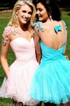 Love pastel prom dresses